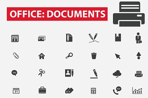42 office documents icons