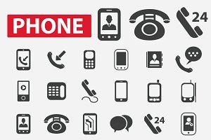24 phone icons