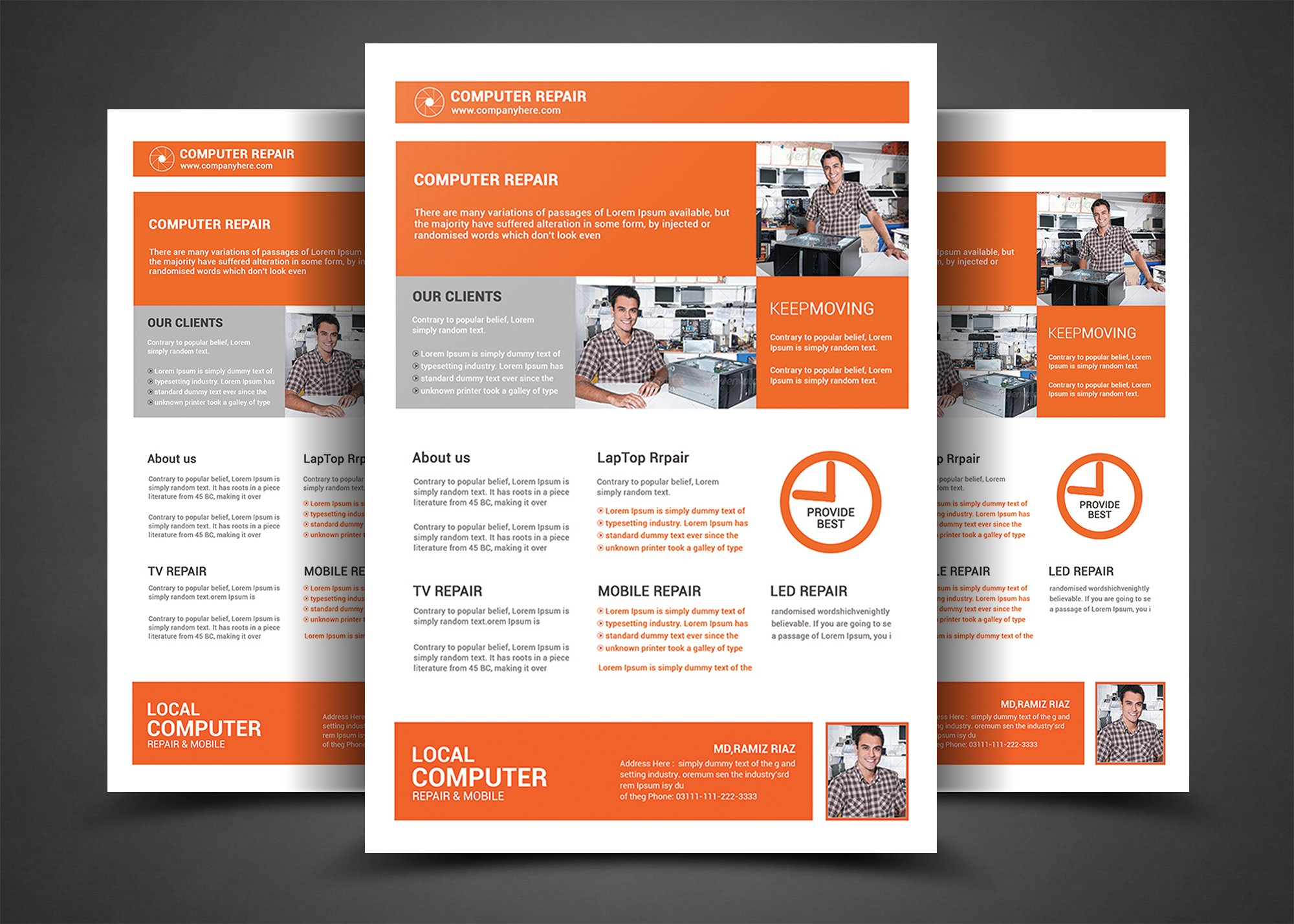 Computer repair flyer template flyer templates creative market pronofoot35fo Choice Image