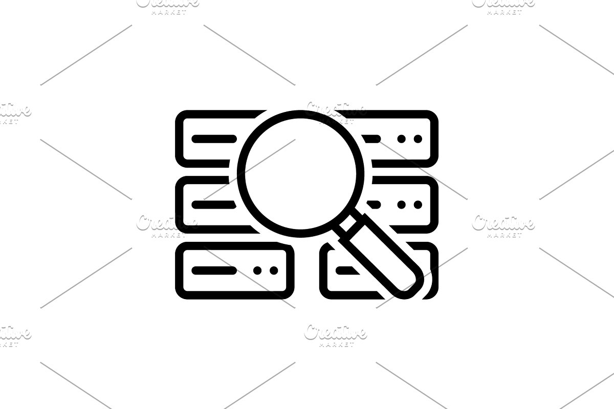 Stock data analysis icon