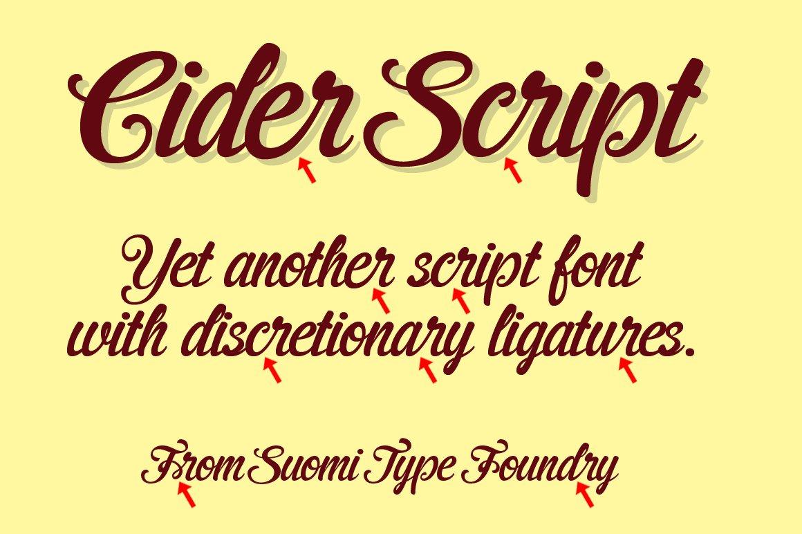 Stf cider script font.