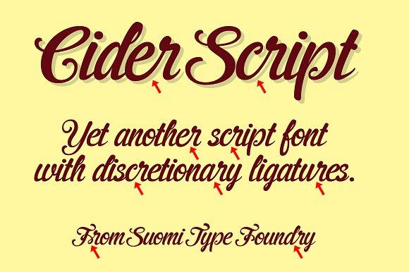 Cider script fonts.