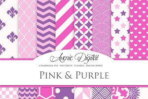 Pink and Purple Digital Paper