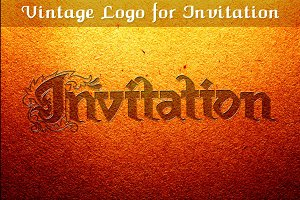 Vintage Logo for Invitation