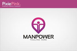 Manpower Logo Template