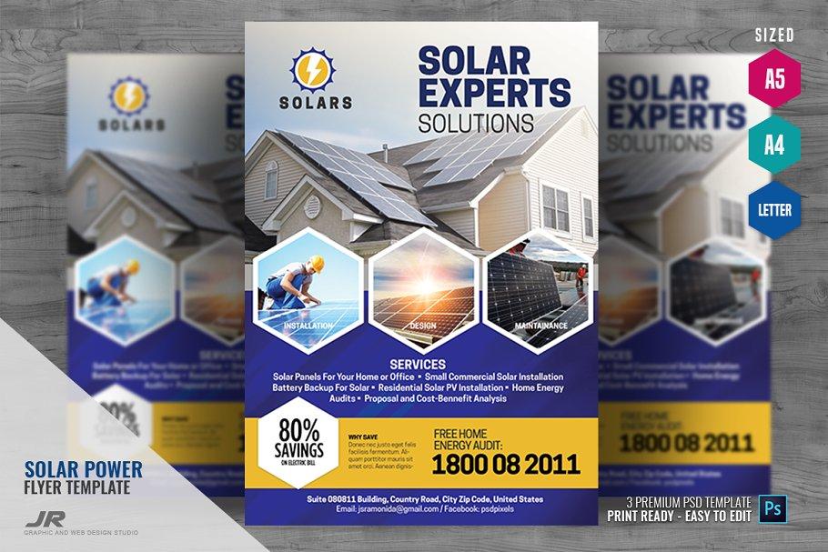 Solar Energy Services Flyer ~ Flyer Templates ~ Creative Market