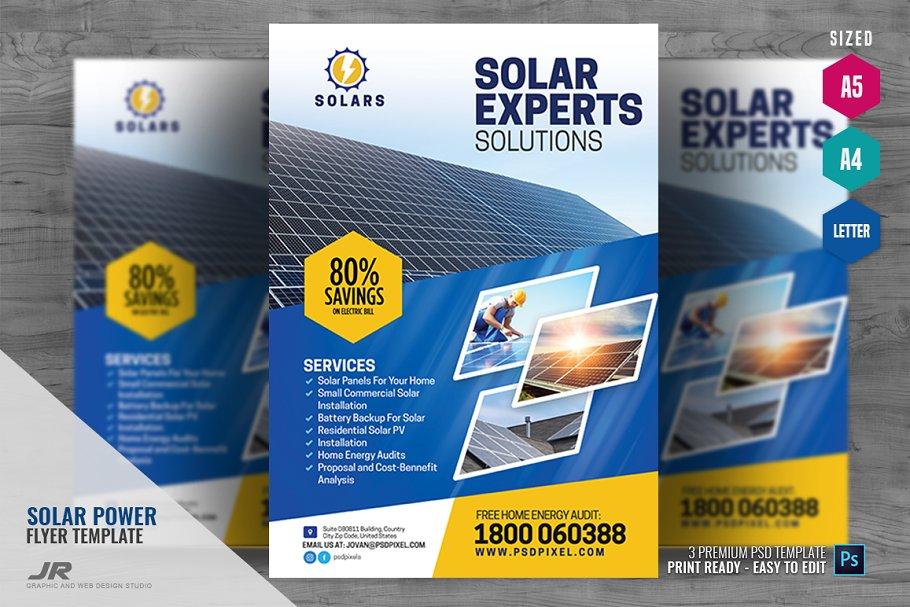 Solar Power Services Flyer ~ Flyer Templates ~ Creative Market