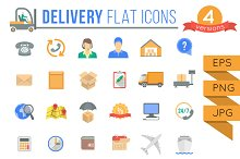 Delivery and Logistics Flat Icons