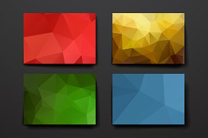 Template with polygonal backgrounds