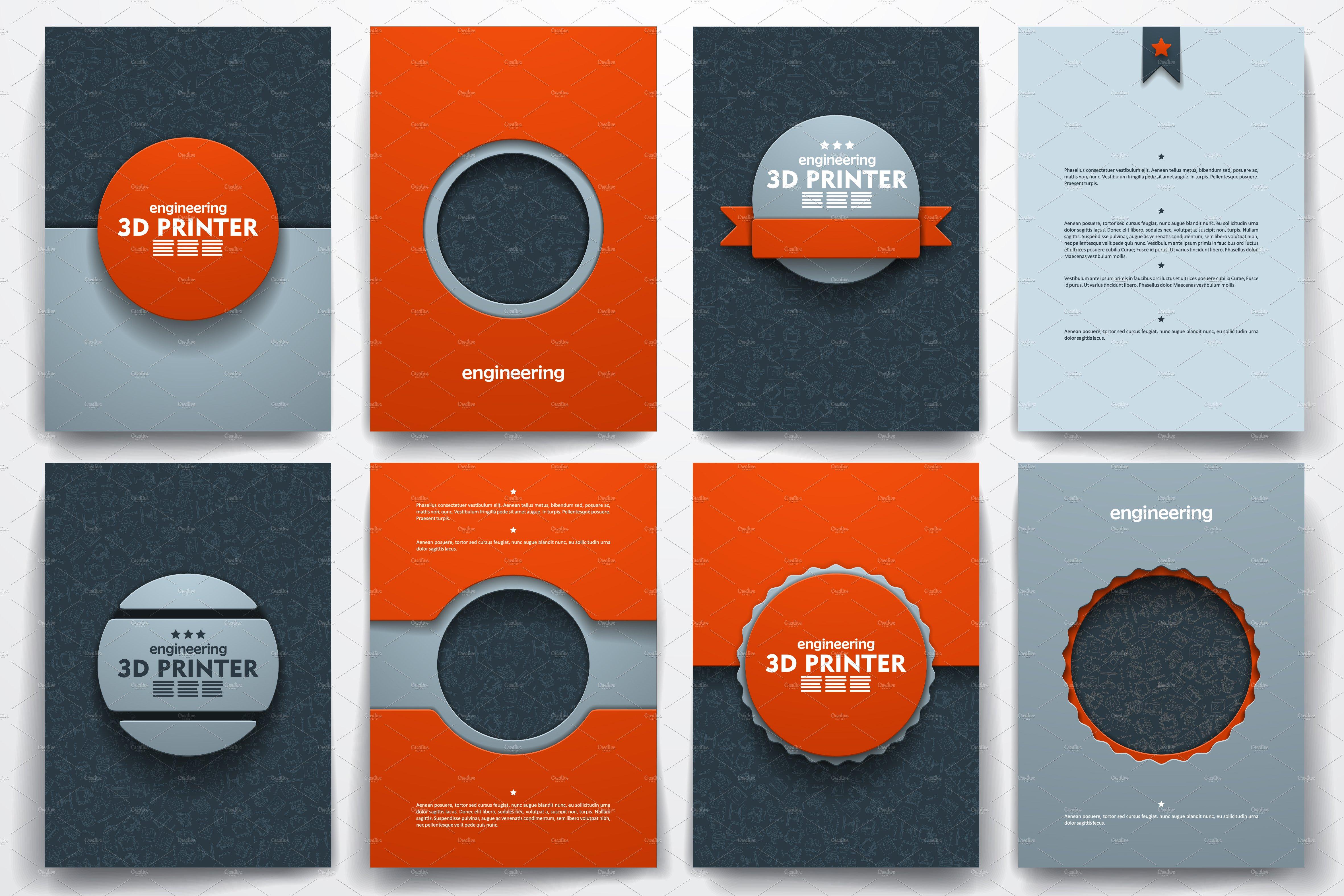 3d brochure template - templates on 3d printer theme brochure templates