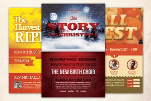 Harvest Holiday Church Flyer Bundle