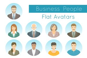 Business People Vector Flat Avatars