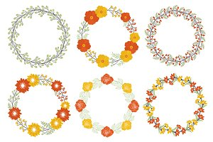 Autumn wreath set