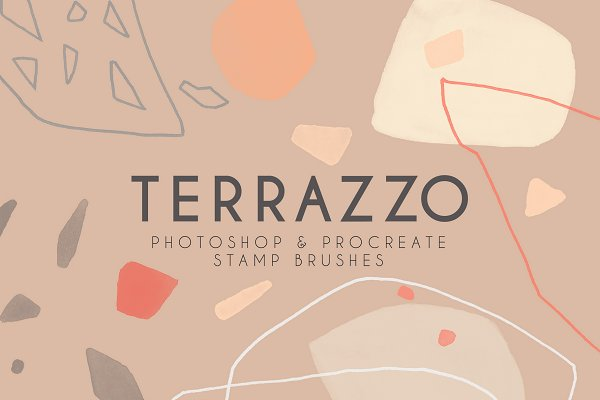 Terrazzo Photoshop Procreate Brushes