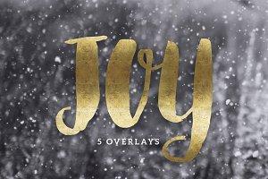 Christmas Gold Foil Lettering