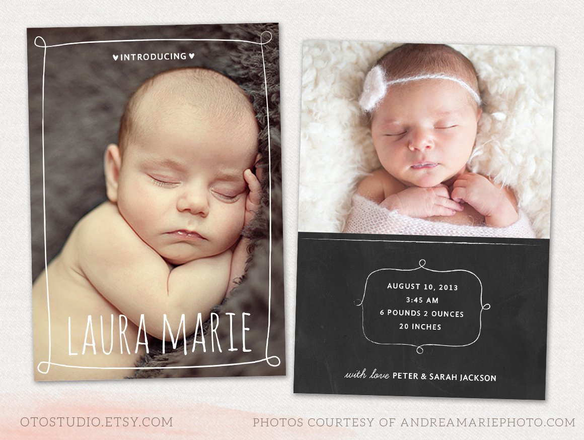 Birth announcement Photos Graphics Fonts Themes Templates – Photo Birth Announcement