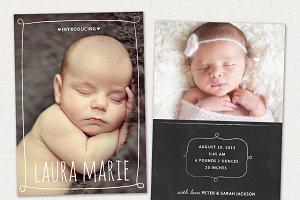 Birth Announcement Template CB001