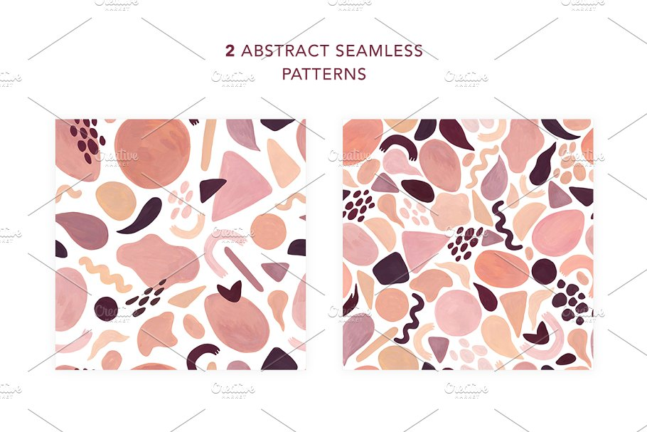 Abstract Shapes. Hand drawn texture in Textures - product preview 4