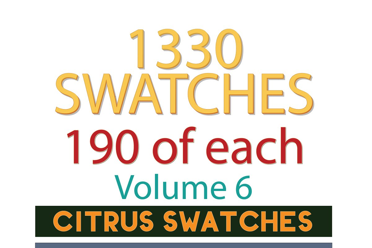 1330 Swatches - 190 ea 7 categories