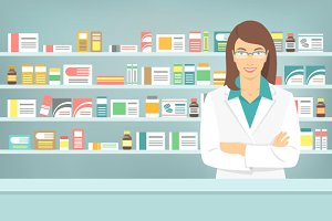 Young Pharmacist at Pharmacy
