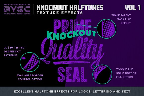 Halftone Textures for Photoshop