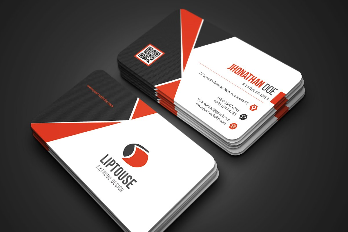 Modern Business Card in Business Card Templates - product preview 1