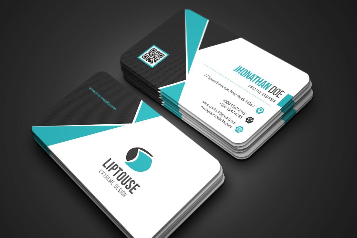 Modern Business Card in Business Card Templates - product preview 2