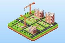 Industrial city building