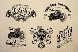 Vintage Motorcycle Logos & Badges