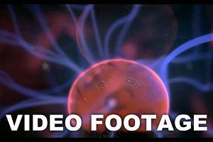 Plasma ball with energy rays