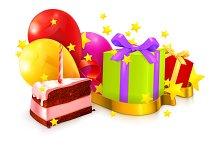 Birthday vector icons