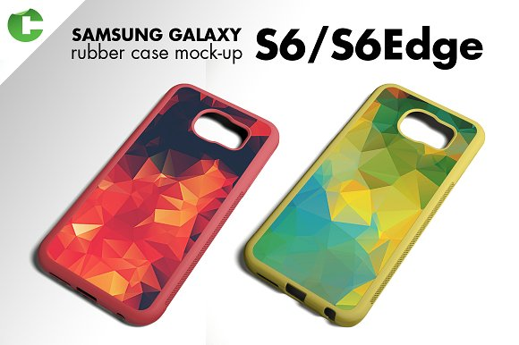 S6/ S6 Edge rubber case mock-up in Product Mockups