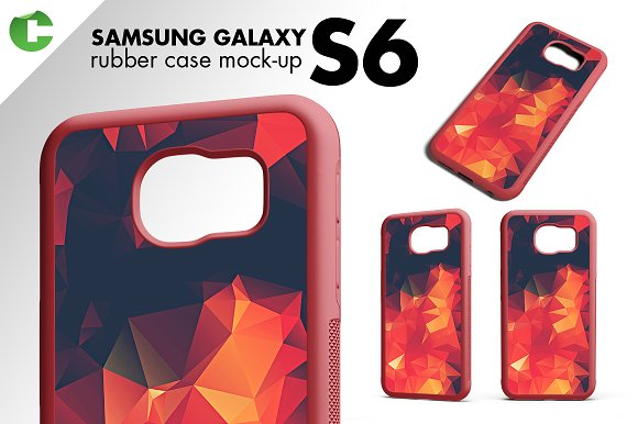 S6/ S6 Edge rubber case mock-up in Product Mockups - product preview 1