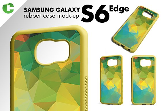S6/ S6 Edge rubber case mock-up in Product Mockups - product preview 2