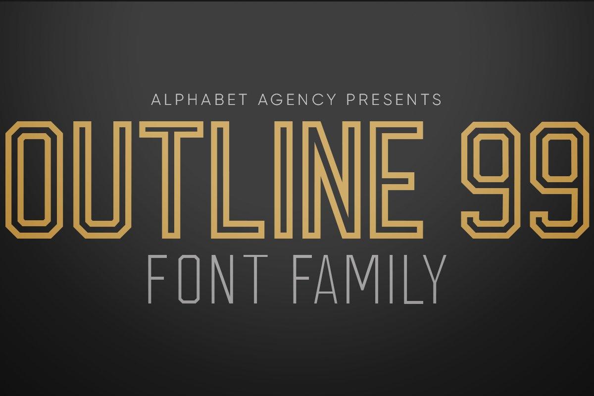 OUTLINE 99 FONT FAMILY (8 FONTS)