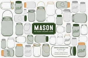 Forest Green Jar Vectors & Clipart