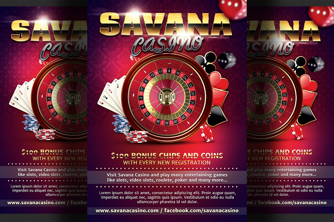 casino ad flyer template flyer templates creative market