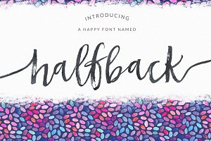 Halfback - A Dry Brushed Script Font