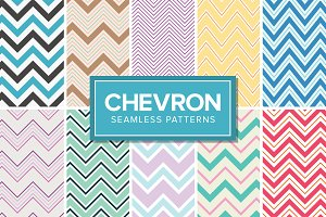 14 Chevron Patterns - Seamless
