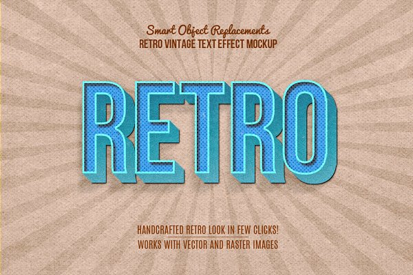 10 Retro Vintage Text Effect