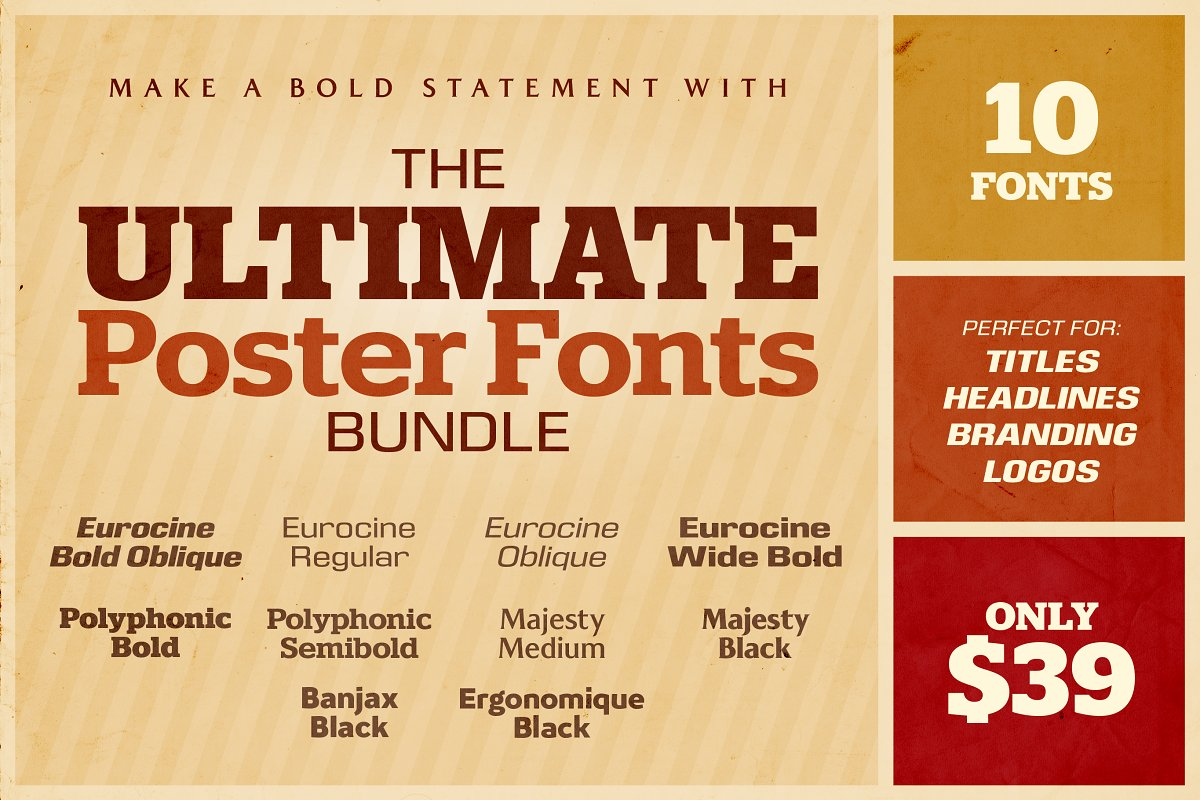 The Ultimate Poster Fonts Bundle