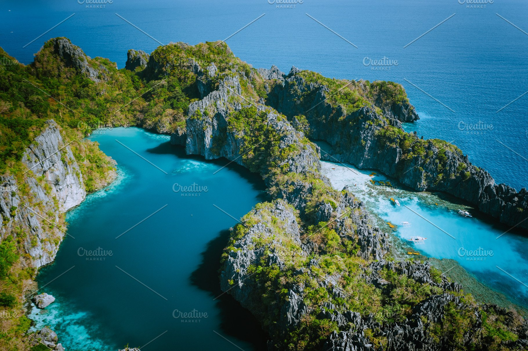 Aerial Drone View Of Big Lagoon