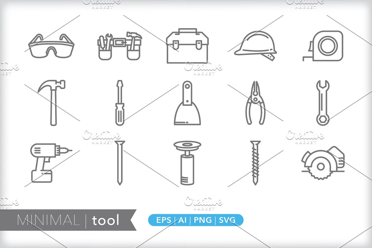 Minimal tool icons in Graphics - product preview 8