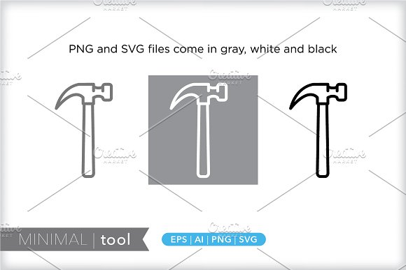 Minimal tool icons in Graphics - product preview 1