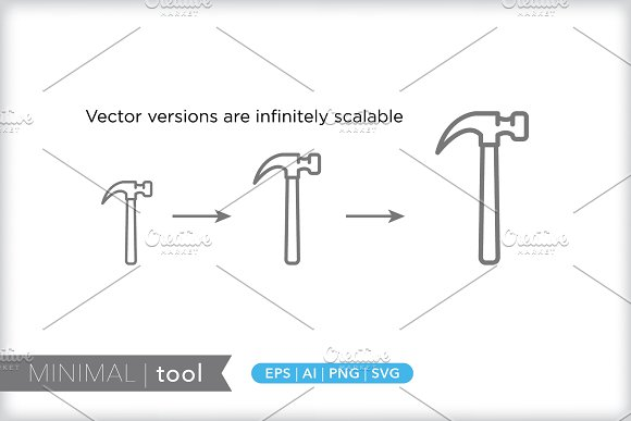 Minimal tool icons in Graphics - product preview 2