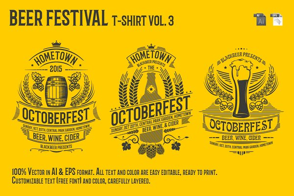 Beer Festival T-Shirt Vol. 3
