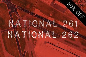 National 261/262 - fonts - 50% OFF !