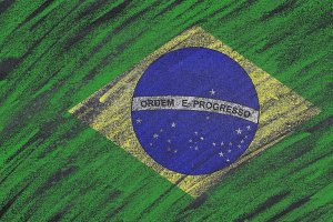 Brazil flag painted.