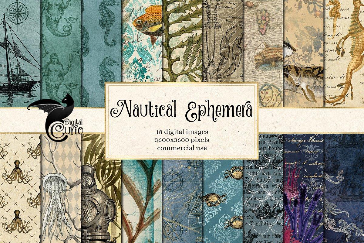 Nautical Ephemera Digital Paper