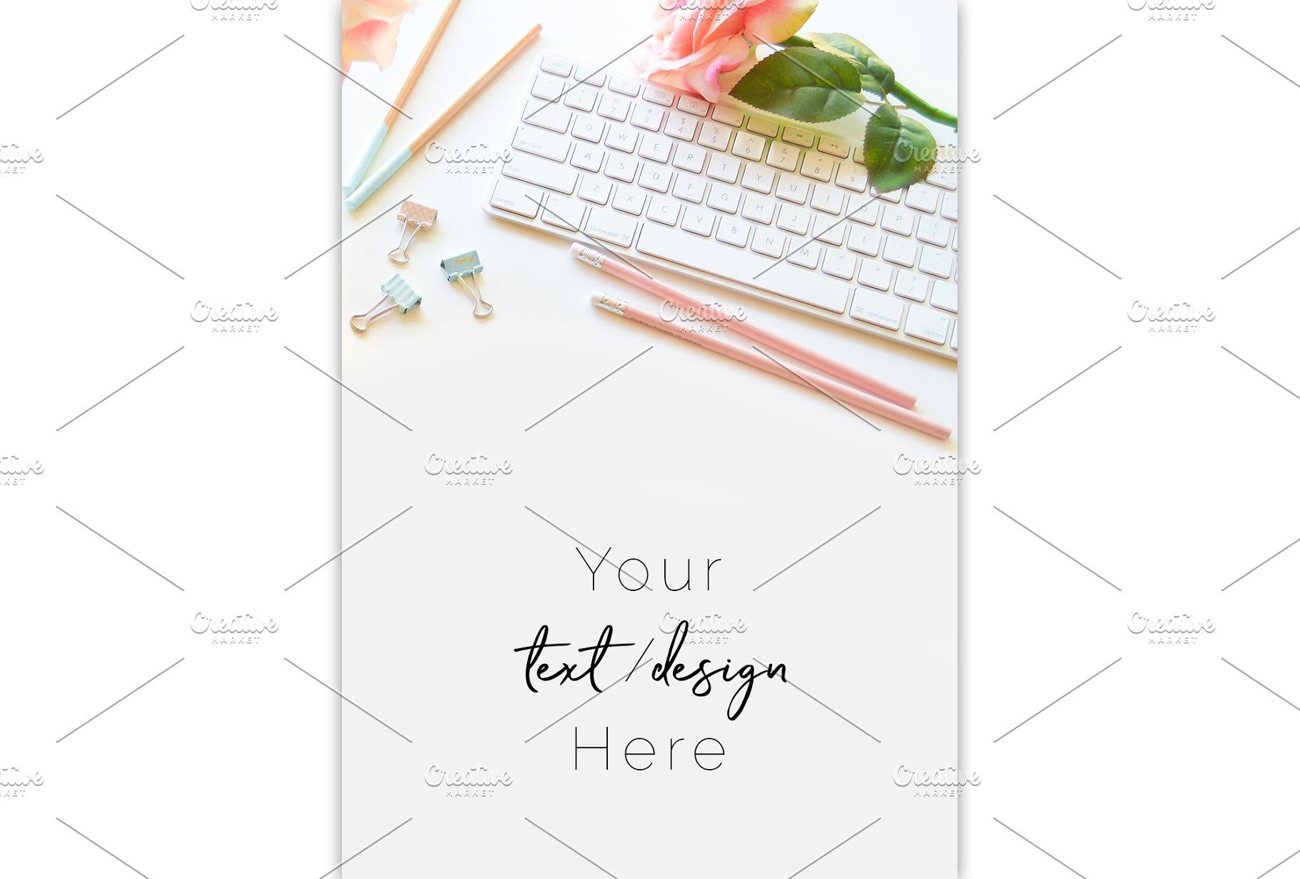 Desktop Mac Keyboard Stock Image